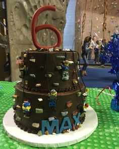LEGO rock climbing cake for Max's 6th birthday