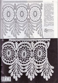 i found this document have pattern. Picot Crochet, Crochet Buttons, Crochet Borders, Crochet Chart, Thread Crochet, Crochet Motif, Easy Crochet, Crochet Flowers, Crochet Lace