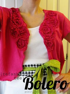 Cute refashioned tee into bolero (instructions included)
