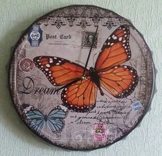 Wall+Clock+Butterfly