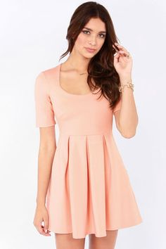 Mink Pink never fails to please - love their Heartbeat Blush Dress at LuLus.com!