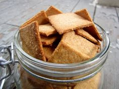 Pie Birds, Buttons and Muddy Puddles: Homemade Wheat Thin Crackers