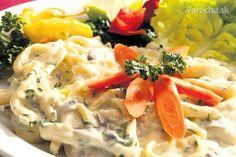 Berlínske syrové špecle No Salt Recipes, 20 Min, Potato Salad, Potatoes, Meat, Chicken, Pizza, Ethnic Recipes, Food