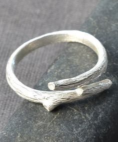 Love this Sterling Silver Adjustable Twig Ring on #zulily! #zulilyfinds