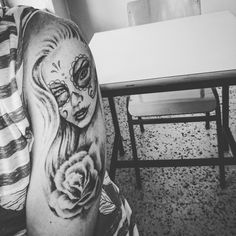 Muerte rose tattoo ink