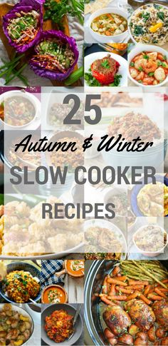 25 slow cooker recipes for autumn and winter: Quick and simple to prepare crock . - 25 slow cooker recipes for autumn and winter: Quick and simple to prepare crock pot meals for all t - Multi Cooker Recipes, Slow Cooker Recipes, Cooking Recipes, Healthy Recipes, Quick Recipes, Delicious Recipes, Healthy Tacos, Tasty, Winter Dinner Recipes