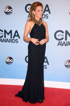 Ralph Lauren Collection  Sheryl crow worked the red carpet in an intricately beaded Ralph Lauren Collection gown at the 47th CMA Awards last week