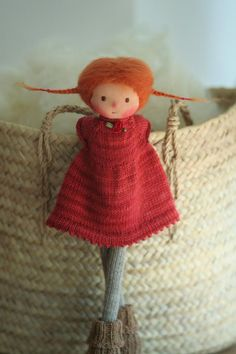 OOAK Waldorf doll Knitted doll Lina 14 by Peperuda Mohair Yarn, Wool Yarn, Sheep Wool, Knitted Dolls, Soft Dolls, Long Legs, Etsy, Hand Knitting, Pop Art