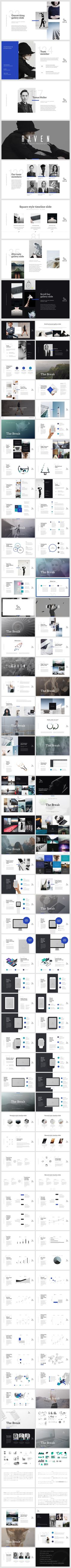 RAVEN Keynote Presentation Template by GoaShape on @creativemarket