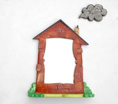 Childs Wall Mirror Decorative Mirror Cottage by funkymirrors.