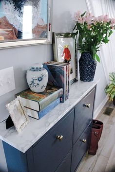 Schuhschrank DIY on a Dime: Glamming my Ikea Hemnes Shoe Cabinet — Randolph and Roses A Proven Easte Ikea Lisabo, Ikea Trones, Ikea Malm, Hemnes Ikea Hack, Ikea Hemnes Shoe Cabinet, Shoe Cabinet Entryway, Shoe Storage Cabinet, Hallway Sideboard, Ikea Entryway