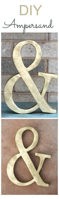 Can you believe that this is a DIY ampersand..... wow!! You will not guess what it is made out of. I know the perfect spot for this in my house!