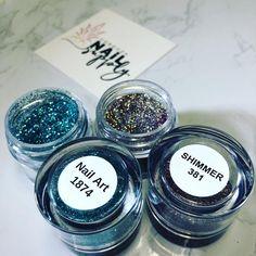 Shimmer 381 and NA 1874 from Elegant Glass Nails Glitter Acrylics, Glitter Nails, Acrylic Nails, Swag Nails, Fun Nails, Nail Supply, Nail Technician, Nespresso, Nail Art