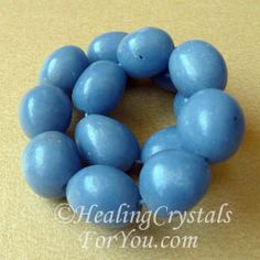 Angelite or Blue Anhydrite has a calming and soothing energy, and is an excellent healing stone. But its most powerful attribute is to boost contact with angelic beings and spirit guides. Excellent to aid communication of all types and develop psychic gifts.