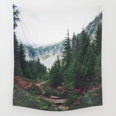 Mountain Trails Wall Tapestry by Kurt Rahn - $39.00