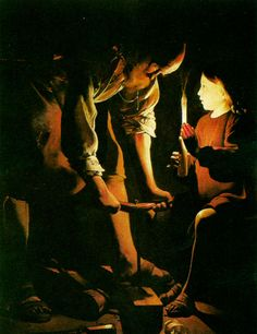 Joseph, the Carpenter', Oil On Canvas by Georges De La Tour St Joseph Feast Day, Greek Statues, Shadow Silhouette, Art Addiction, Shadow Art, Classic Paintings, Christian Art, Religious Art, Watercolor And Ink