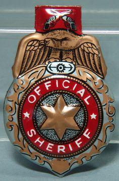 Vintage Japan Tin Sheriff Badge Clicker