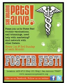 Foster Fest every 1st and 3rd Sunday at Hwy. 151 Annex Bldg.