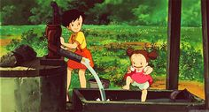 Animated gif shared by 𝑶𝑵 ⁷. Find images and videos about anime, studio ghibli and totoro on We Heart It - the app to get lost in what you love. Studio Ghibli Art, Studio Ghibli Movies, Animiertes Gif, Animated Gif, Hayao Miyazaki, Animation, Anime Manga, Anime Art, Secret World Of Arrietty