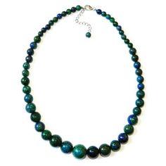 bluish green gemstone necklace $23.95