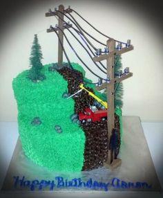 Linemen cake