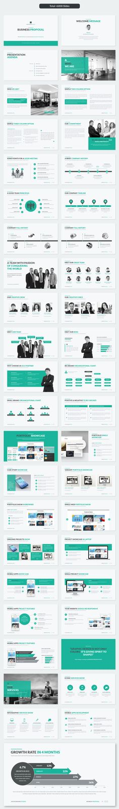 Business Proposal PowerPoint Template - Showcase and discover creative work on the world's leading online platform for creative industrie - Ppt Template Design, Ppt Design, Slide Design, Keynote Template, Brochure Design, Cool Powerpoint, Powerpoint Design, Creative Powerpoint Presentations, Business Powerpoint Templates