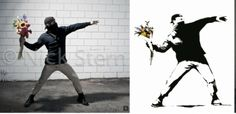 Banksy art turned in photography