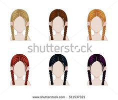 two plaits hairstyle