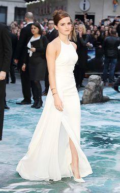 Emma Watson WHAT:  Ralph Lauren Collection dress, Jimmy Choo clutch and shoes, Anita Ko earrings, Jennifer Fisher bracelets, Jennifery Meyer...