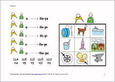 MATERIALES - Fonemas /ll/ /y/.    Varias actividades y soportes para trabajar el fonemas /ll-y/ y su integración en el lenguaje espontáneo.    http://arasaac.org/materiales.php?id_material=855