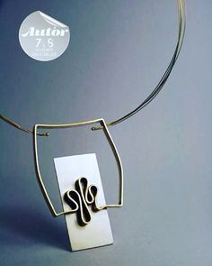 Necklace - window traces Will be presented at Autor Contemporary Jewelry Fair in Bucharest, 7th and 8th of november. Silver and brass www.contemporia.ro #contemporaryjewelry