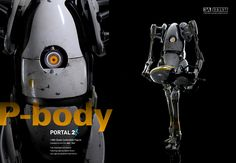 3A x VALVe Portal 2 P-body Fully articulated and detailed Featuring Light-Up Optical Sensor and Light-Up Handheld portal device