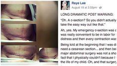 Marre qu'on lui dise «qu'accoucher par césarienne» a dû être «plus facile pour elle», cette maman a décidé de remettre les pendules à l'heure dans un post devenu viral sur Facebook