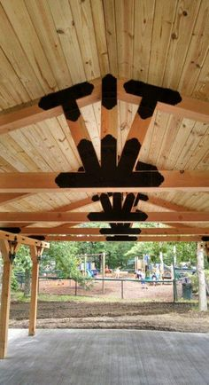 """Pavilions are not all created equal. Use OZCO's Ornamental Wood Ties to set your next project apart in style and strength!   Truss Fan, """"T"""" Tie & Flush Post to Beam connectors used for this beautiful and long-lasting project.  In need of project plans? OZCO is always updating our library of FREE How To's!"""
