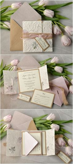 Handmade Paper with Petals and Leaves