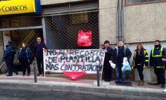 'Desayunos reivindicativos' de los trabajadores de Correos en contra de los recortes - villalbainformacion.com