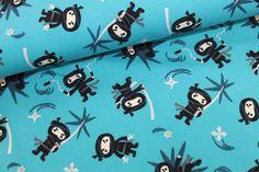 Ninjas Jersey türkis von Kleine Stoffträume auf DaWanda.com