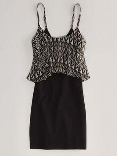 AE Layered Bodycon Dress, $39.95, ae.com   - Seventeen.com