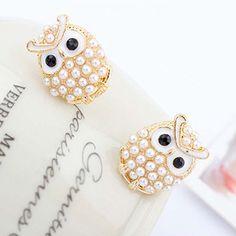 Cute Beaded Owl Earrings,owl Ornaments Earrings For Women on Luulla