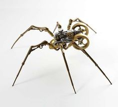 steampunk spider - metal sculpture by Christopher Conte