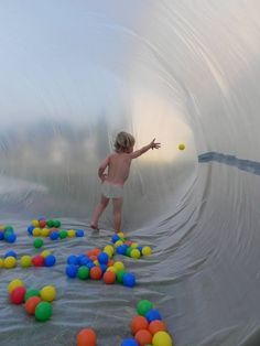 Create a giant bubble with plastic sheeting and a fan. | 37 Ridiculously Awesome Things To Do In Your Backyard This Summer