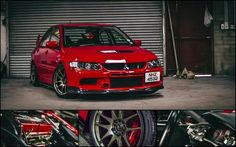 Red Mitsubishi Lancer Evolution
