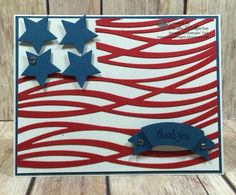 Thank You Flag Card, Stampin' Up! Only Challenge