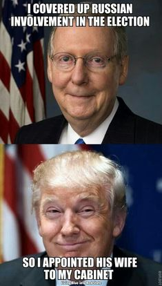 How corrupt do you have to be to let Russian involvement slide by? Ask Moscow mitch McConnell and president trump, they know. Red State, Political Views, Political Corruption, Political Satire, Mitch Mcconnell, Republican Party, Republican Values, Thats The Way, Before Us
