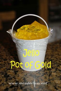 St. Patrick's Day-food ideas-Jello Pot of Gold