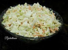 przepis na surówkę colesław z kapusty białej z sosem, Prosta sałatka na dużą ilość osób,