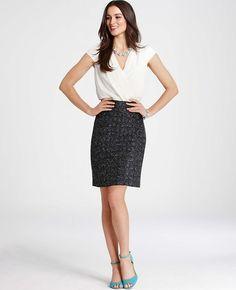 Ann Taylor - AT Dresses - Cross Tweed Dress
