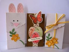 Stampin' Up! Scalloped Tag Topper boxes, Easter