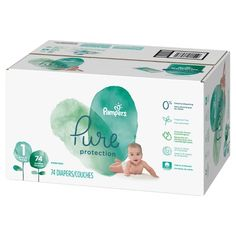 Diapers Size 364 Count - Pampers Pure Protection Disposable Baby Diapers, Hypoallergenic and Fragrance Free with Aqua Pure Pop-Top Sensitive Water Baby Wipes, 224 Count (Old Version) Couches, Newborn Diapers, Diaper Babies, Diaper Sizes, Natural Rubber Latex, Disposable Diapers, Baby Skin, Health Facts, Bleach