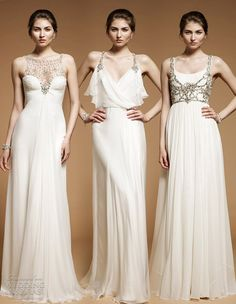<3 the greek wedding style gown.